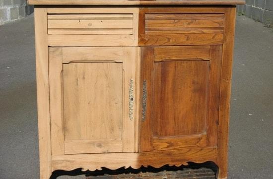 Décapage meuble bois ciré