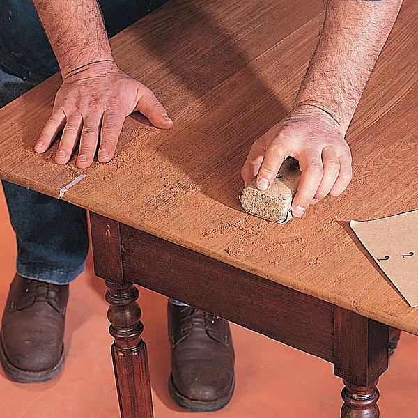 Ponçage meuble bois