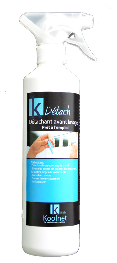 K DETACH détachant linge avant passage en machine,