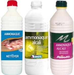 Ammoniaque détachant linge nettoyant vêtement