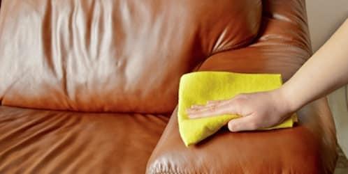 Nettoyage canapé cuir
