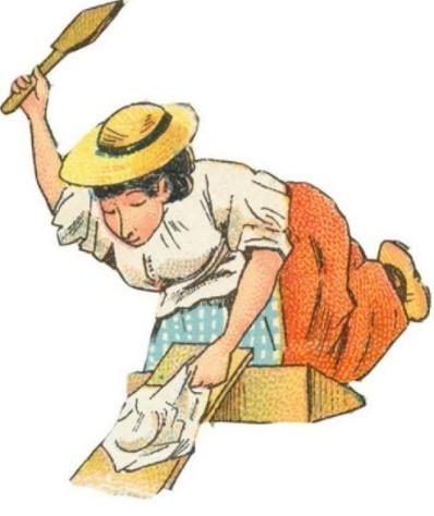 Femme battant le linge