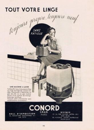 Publicité pour une machine à laver